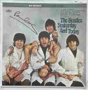 The Beatles Signed Paul McCartney, Album Cover