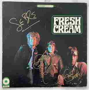 Fresh Cream, Record Album Signed By Band, Certified