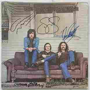 Crosby, Stills & Nash Signed Record Album, Certified