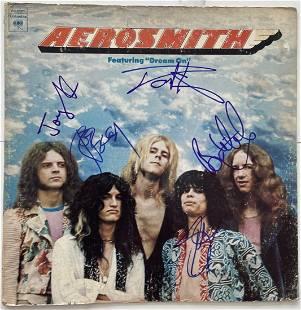Aerosmith Record Album Signed By Entire Band, COA