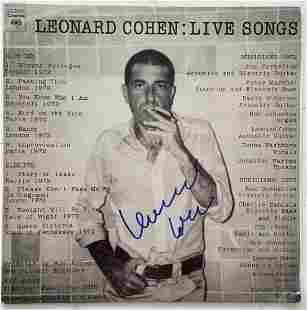 Leonard Cohen Signed Record Album w/ COA