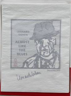 Leonard Cohen Signed Artwork & Photographs