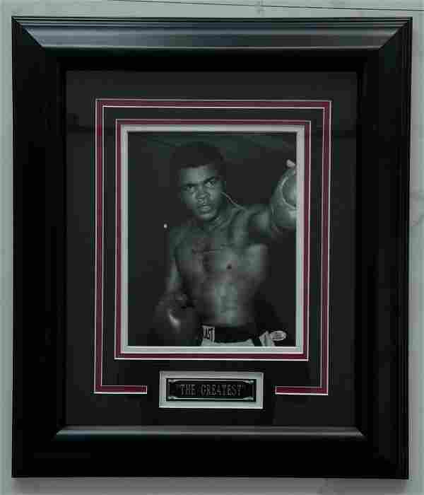 "Muhammad Ali ""The Greatest"" Signed Photo w/ COA"