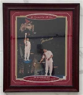 Muhammad Ali Signed Olympics Photo w/ COA