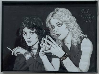 The Runaways, Ink & Watercolor Drawing By Becky Welton