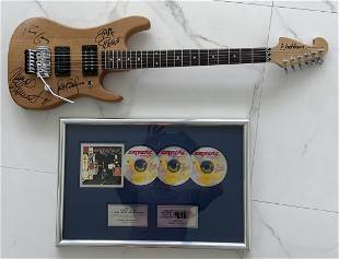 Extreme: Canadian Rock Band Signed Guitar & Plaque
