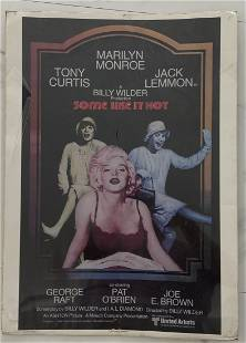 Marilyn Monroe, Some Like It Hot 1958 Movie Poster