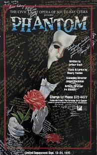 Phantom Of The Opera Signed Theatre Poster