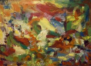 CHRISTINE OPLOS (20th c, American) Abstract