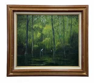 TOM LAZARE (20th c, Florida) Everglades Landscape