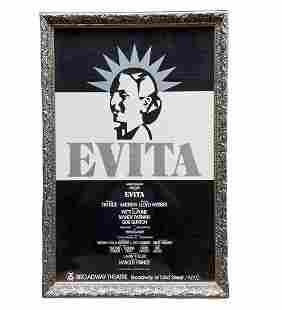 EVITA, Original Broadway NYC Poster, Framed