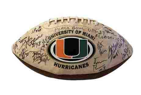 2004 Miami Hurricanes Peach Bowl Signed Football