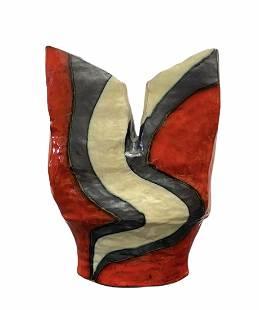 Studio Pottery Artist Signed Glazed Ceramic Vase