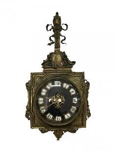 Antique Bronze French Cartel Clock