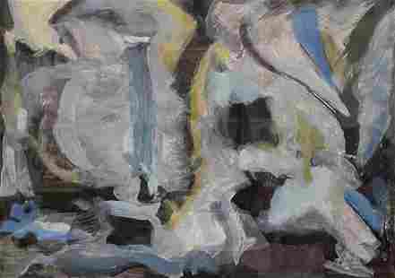 Mid-Century Modern Abstract, Illegible Signature