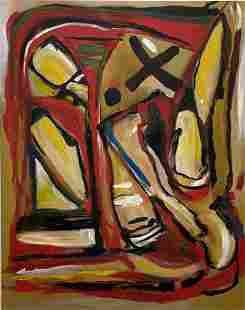 Large Modern Abstract Painting, Unknown Artist