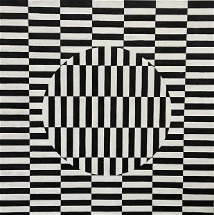 TIM RAY FISHER (b. 1969, Indiana) Black & White Op Art