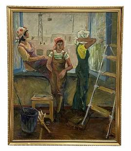 Soviet Realism, Women Taking A Break From Work