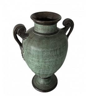 Italian Roman Style Decorative Vase, Signed
