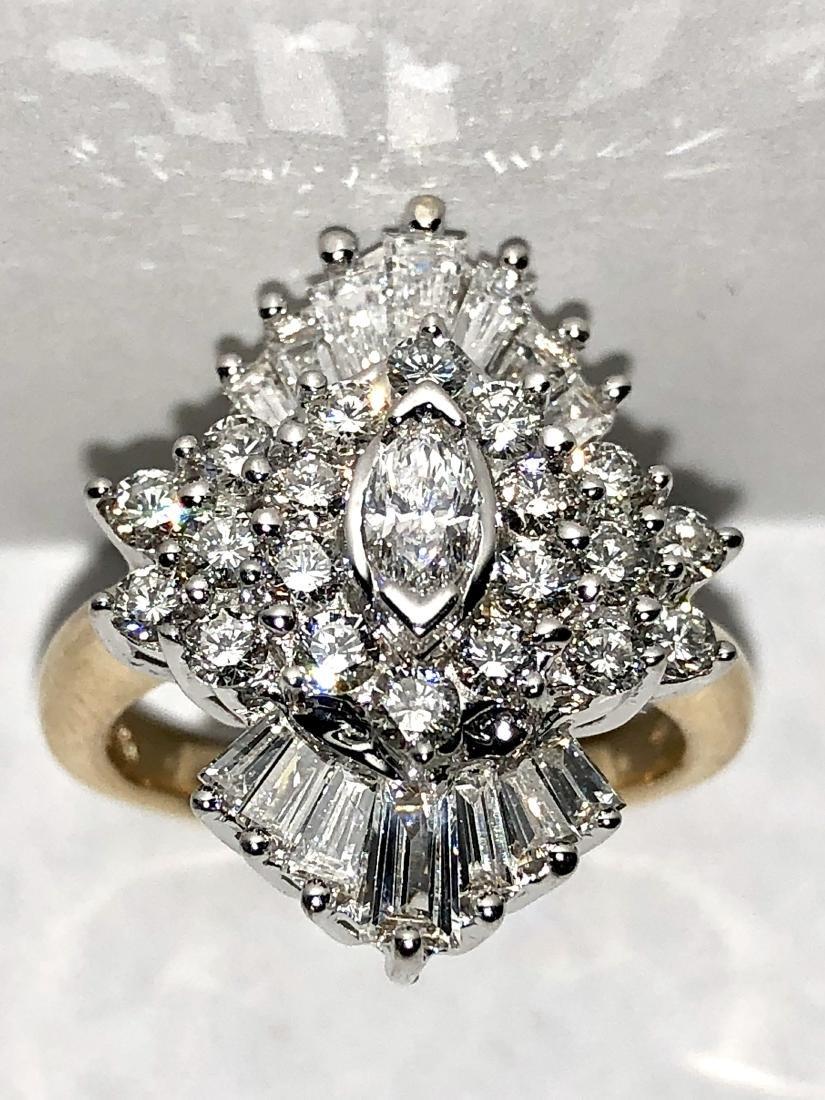Exceptional 14K gold 2.0 TCW VVS2, F color diamonds on