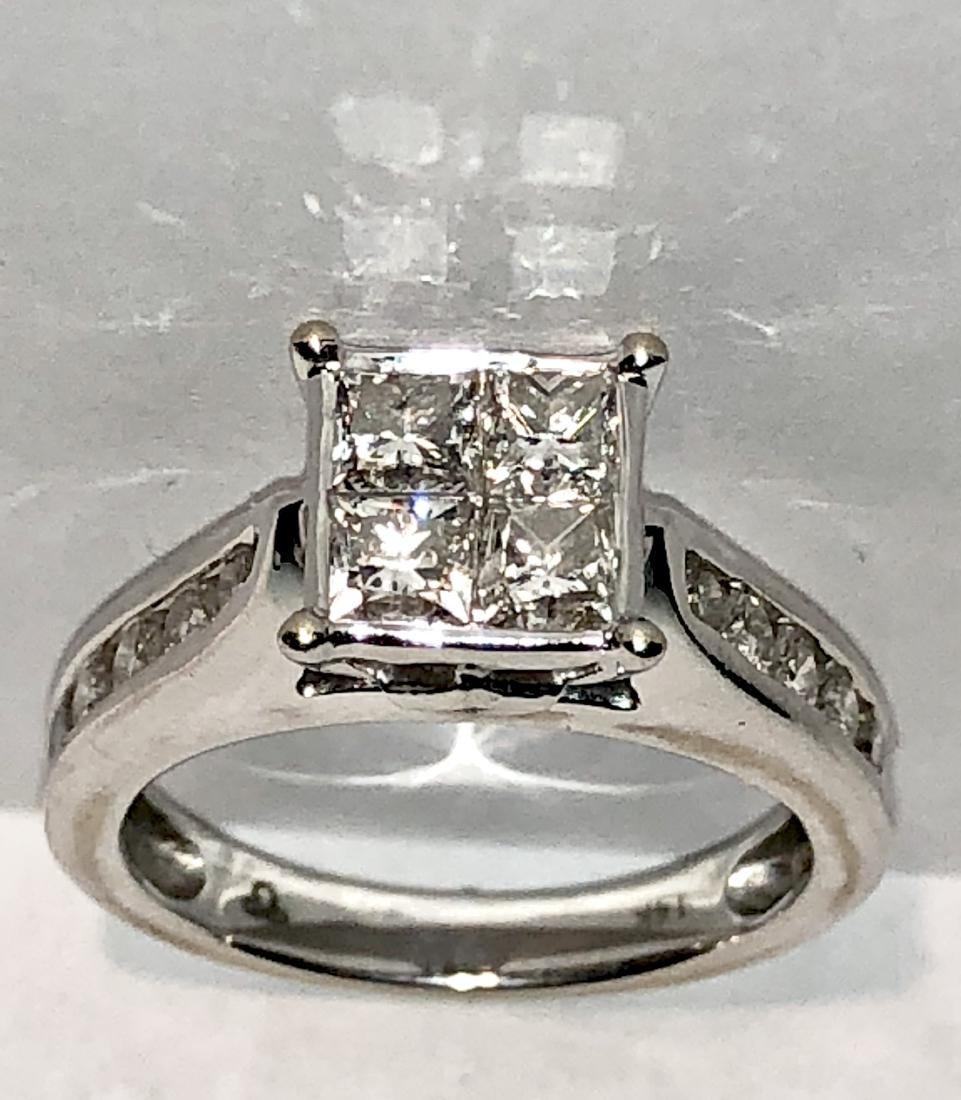 14K gold 1.20 TCW SI1, H diamonds wedding ring.