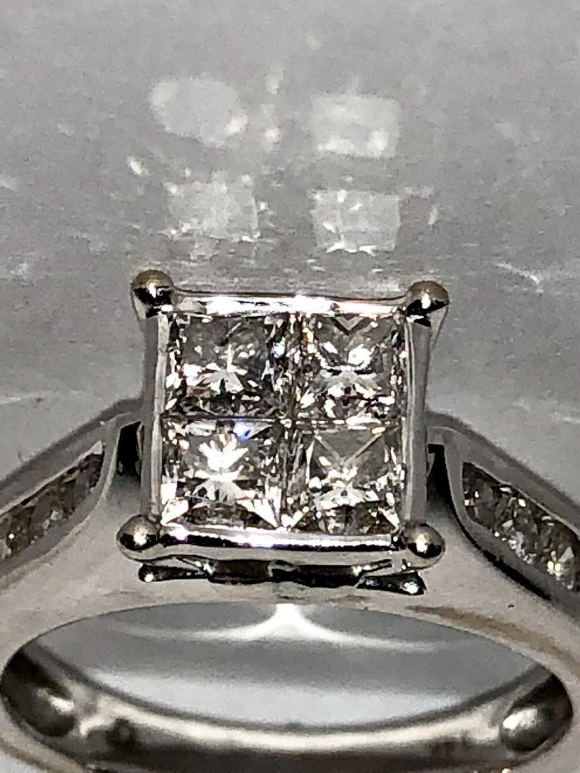 14K gold 1.20 TCW SI1, H diamonds wedding ring. - 2