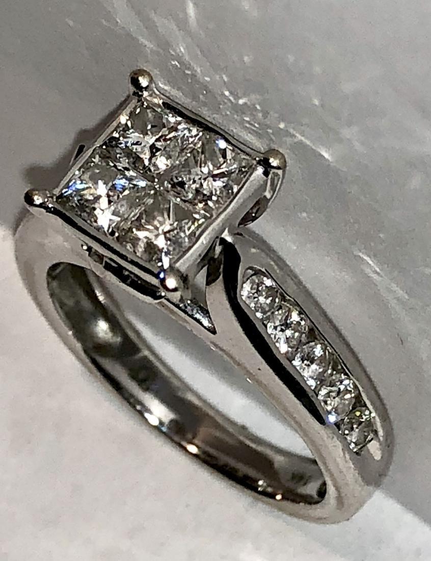 14K gold 1.20 TCW SI1, H diamonds wedding ring. - 3