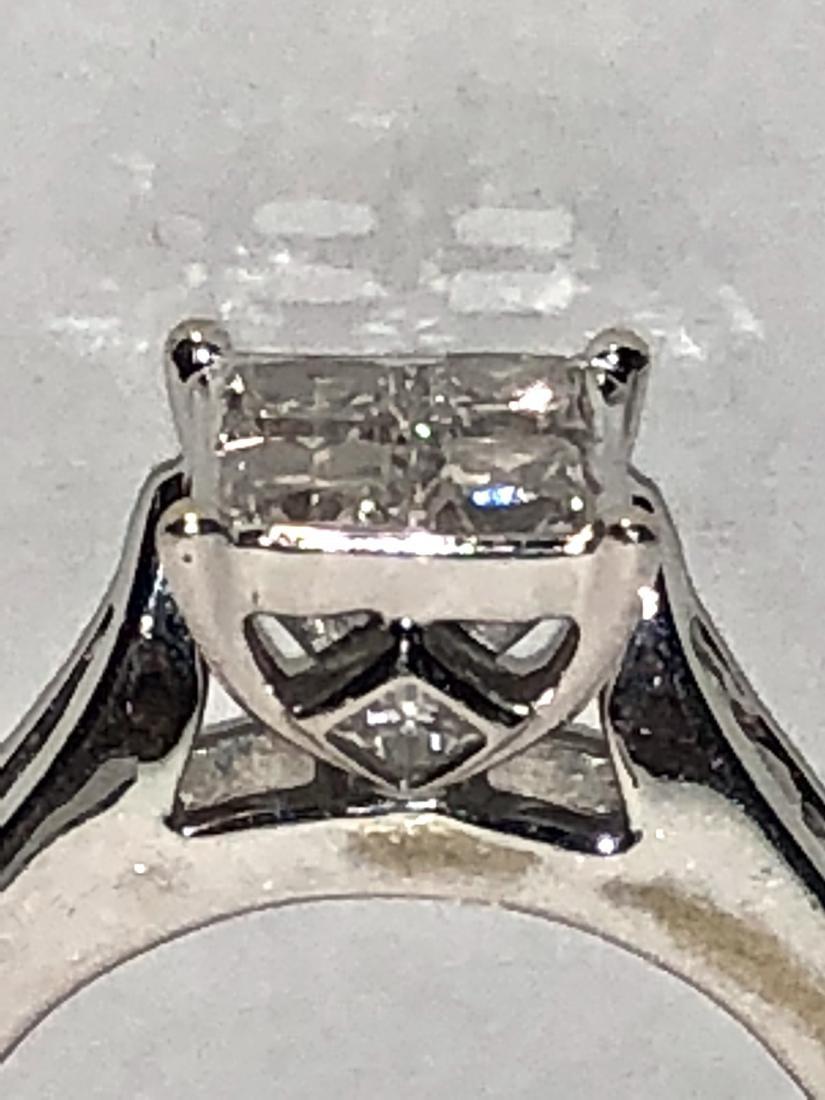 14K gold 1.20 TCW SI1, H diamonds wedding ring. - 4