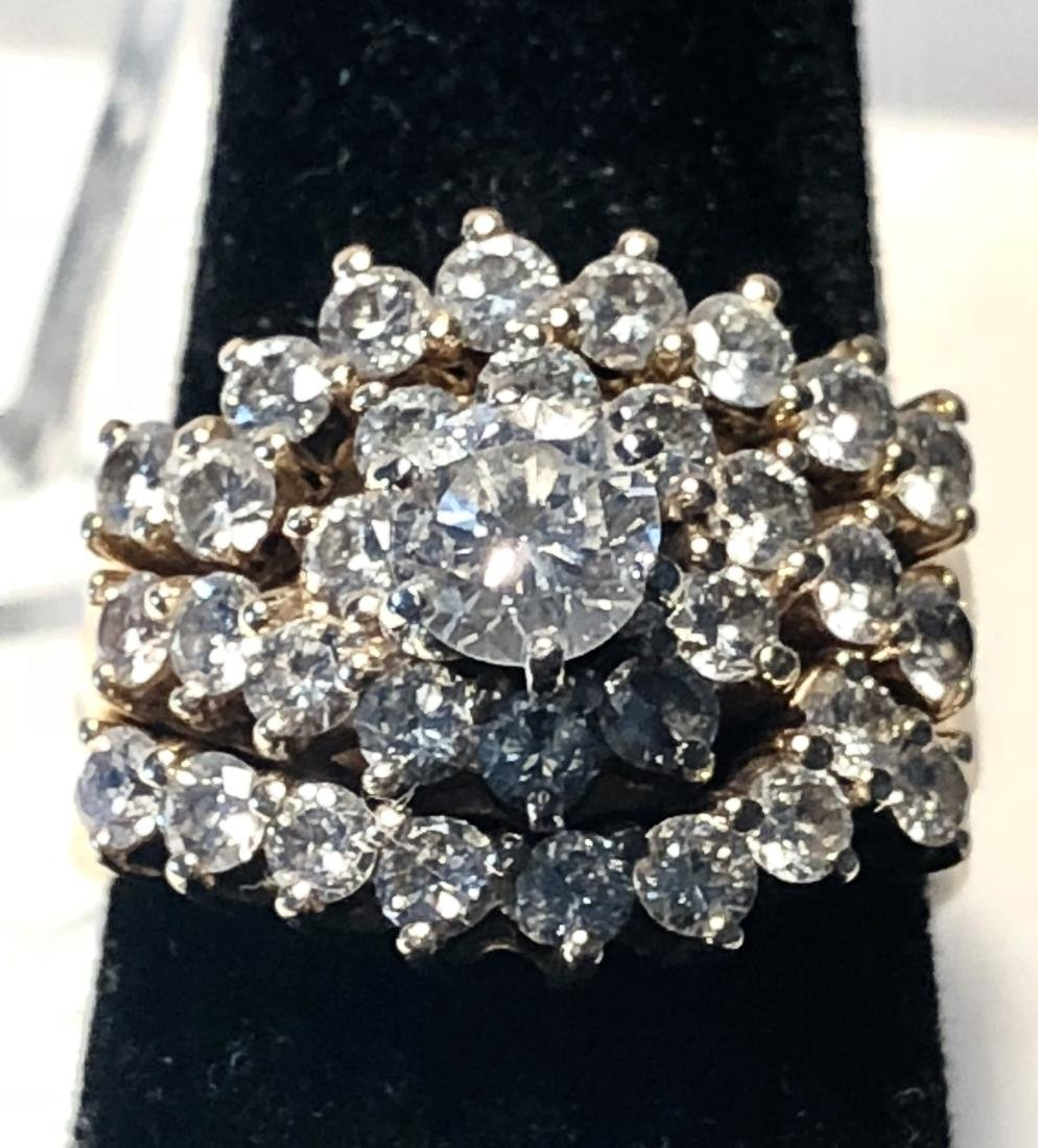 Brilliant 14K gold 2.60 TCW VS2-SI1, G color diamonds