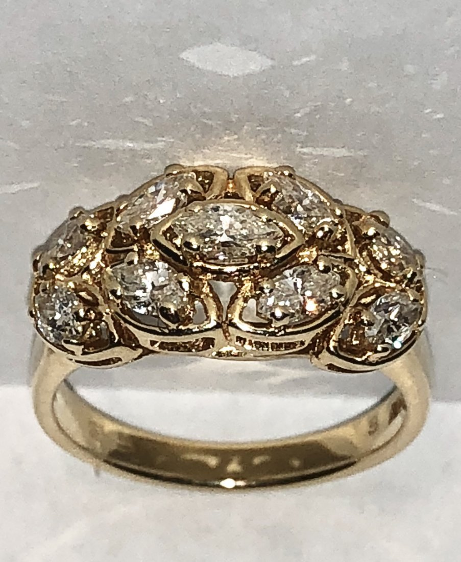 14k gold 1.69 TCW Si1, H  diamonds ring.