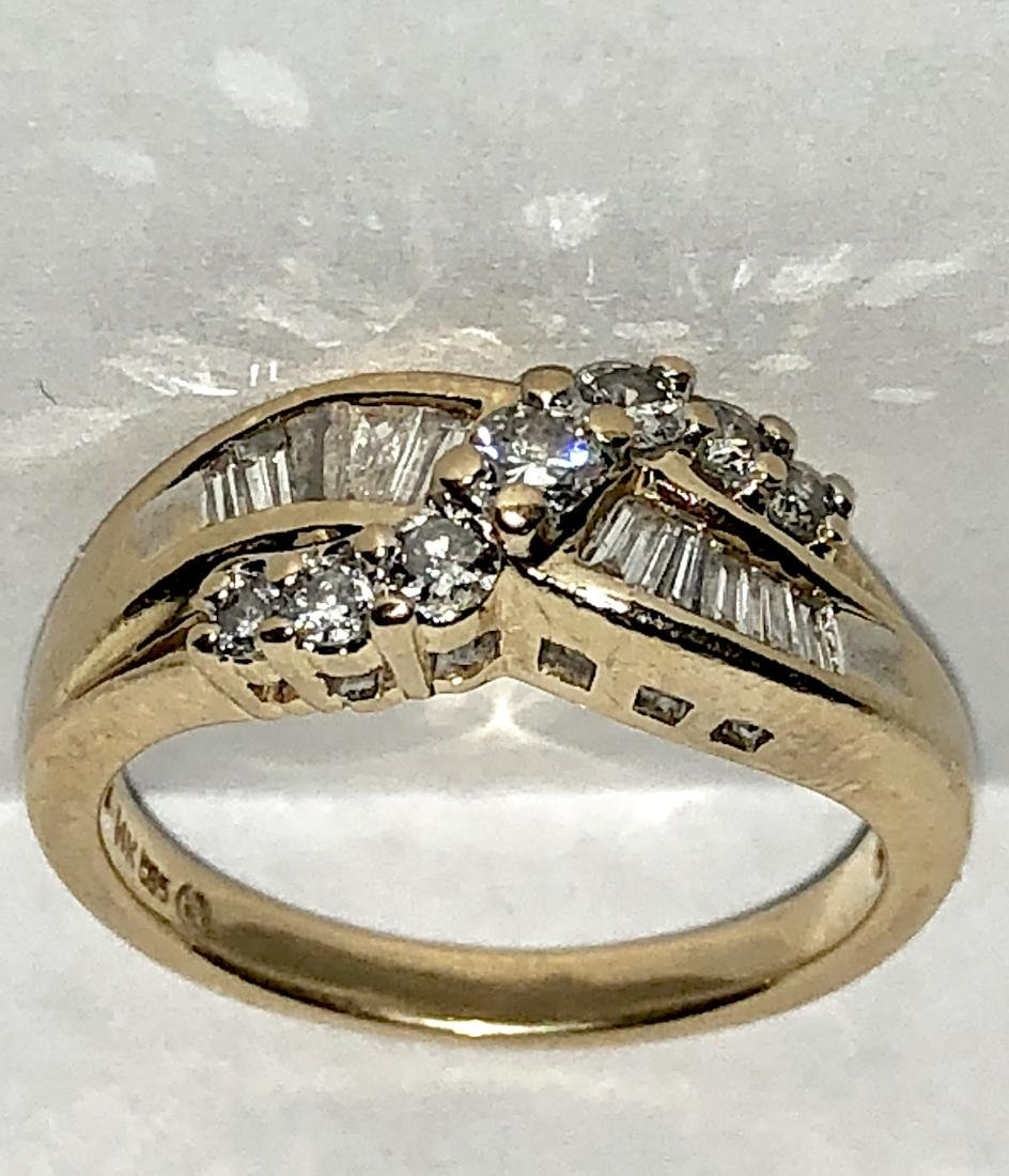 BEAUTIFUL 14K GOLD 0.50 TCW SI2, H COLOR ROUND AND - 3