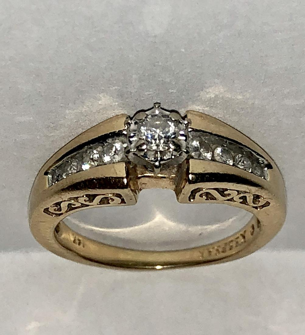 14K GOLD 0.35 TCW SI2, I COLOR DIAMONDS ENGAGEMENT