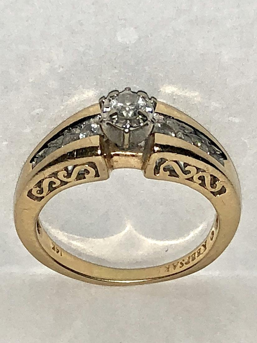 14K GOLD 0.35 TCW SI2, I COLOR DIAMONDS ENGAGEMENT - 2
