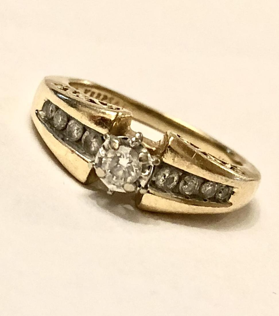 14K GOLD 0.35 TCW SI2, I COLOR DIAMONDS ENGAGEMENT - 3