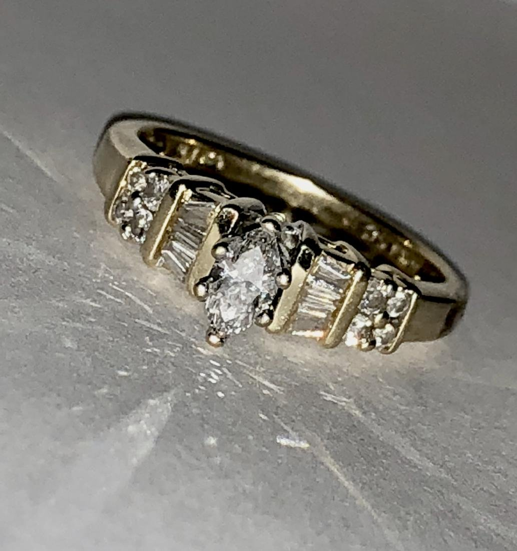 KAY'S 14K GOLD 0.50 TCW SI3, H COLOR MARQUISE DIAMONDS