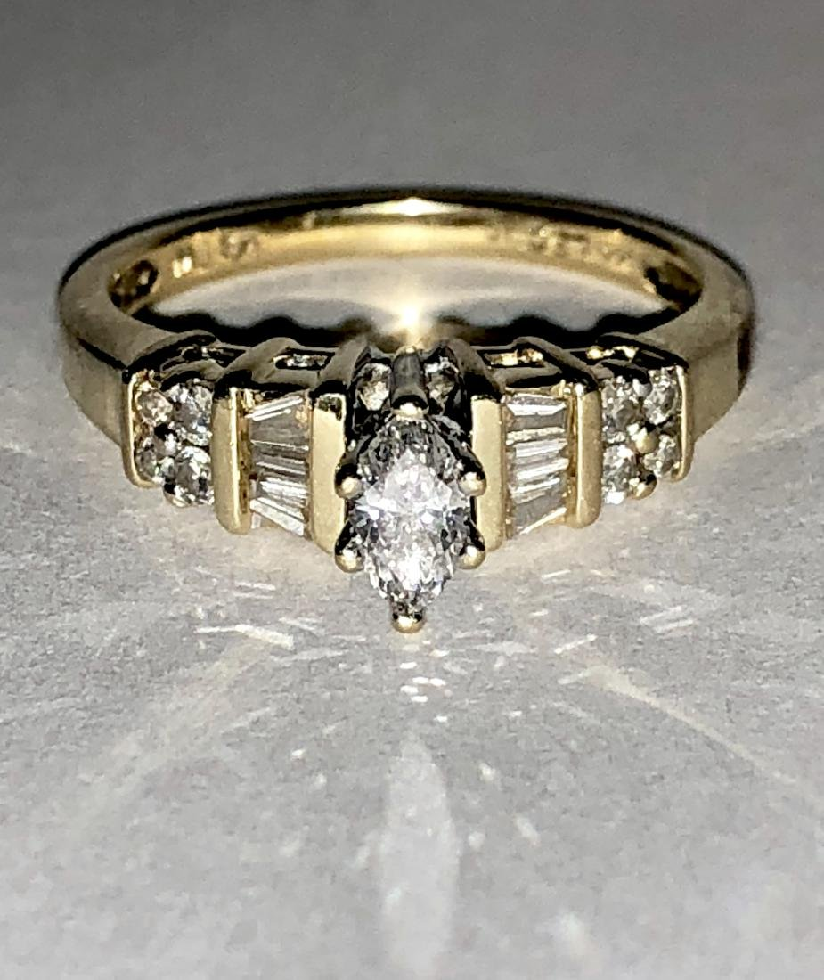 KAY'S 14K GOLD 0.50 TCW SI3, H COLOR MARQUISE DIAMONDS - 2