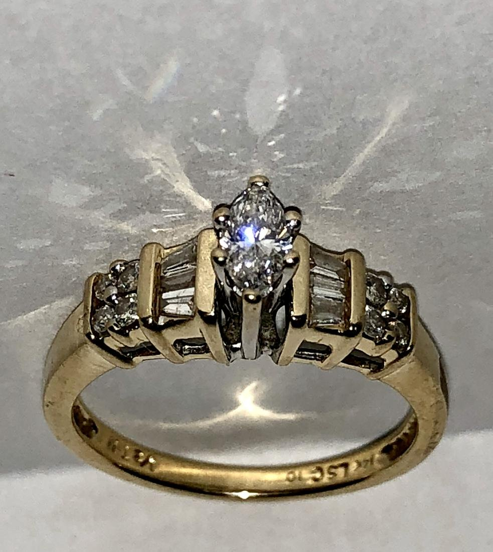 KAY'S 14K GOLD 0.50 TCW SI3, H COLOR MARQUISE DIAMONDS - 3