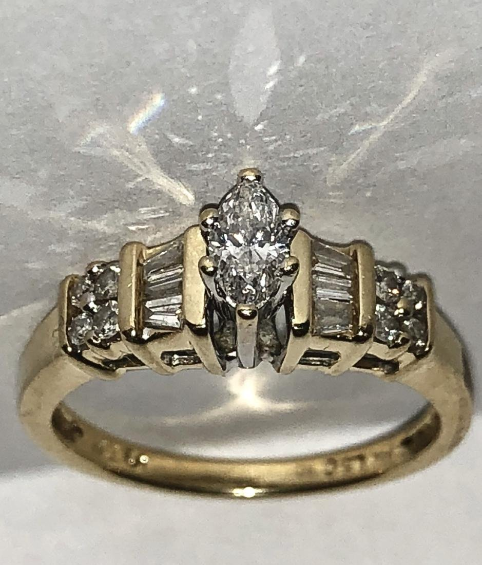 KAY'S 14K GOLD 0.50 TCW SI3, H COLOR MARQUISE DIAMONDS - 4