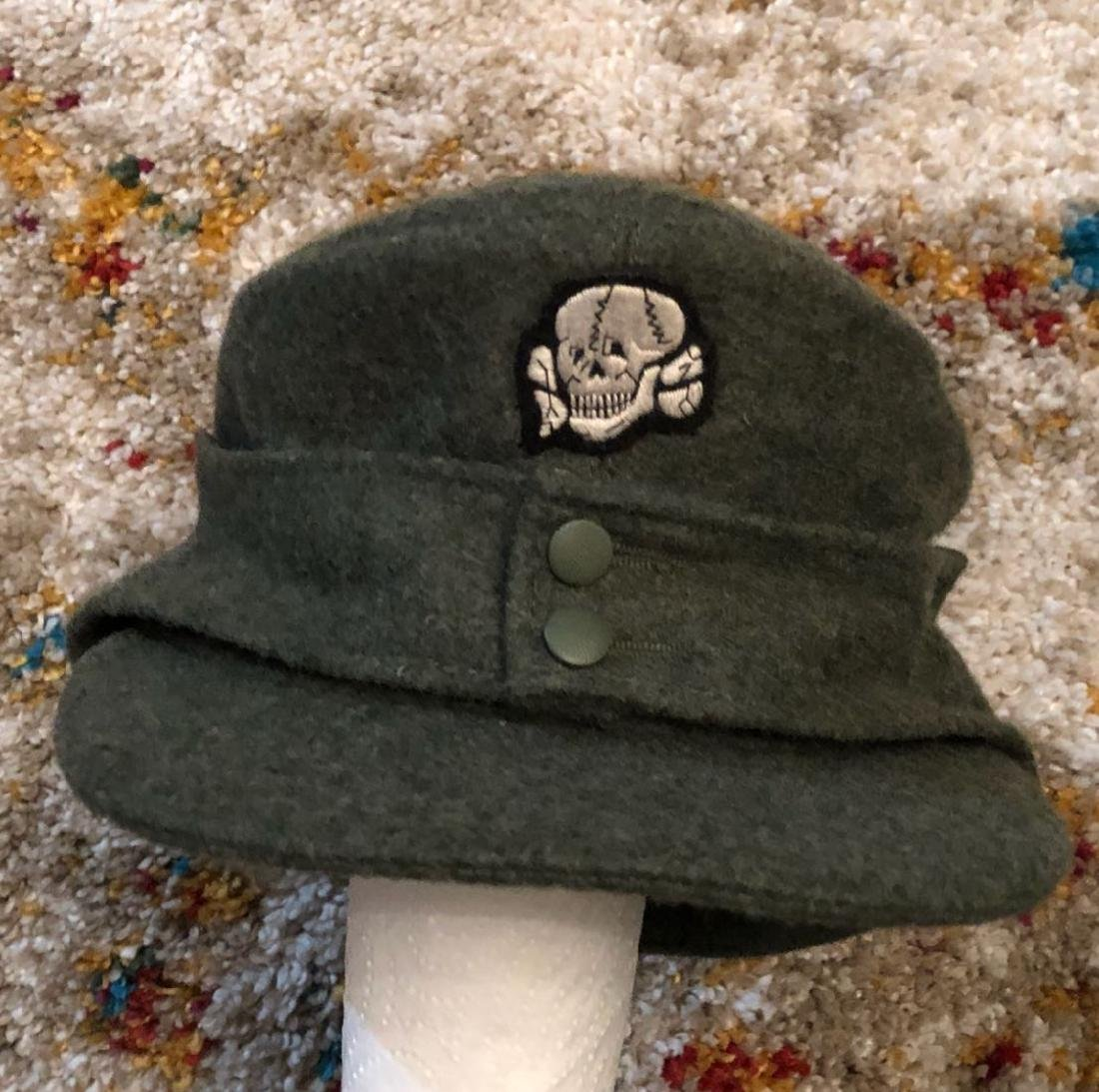 GERMAN WW2 SS TOTENKOMPF SKULL CAP