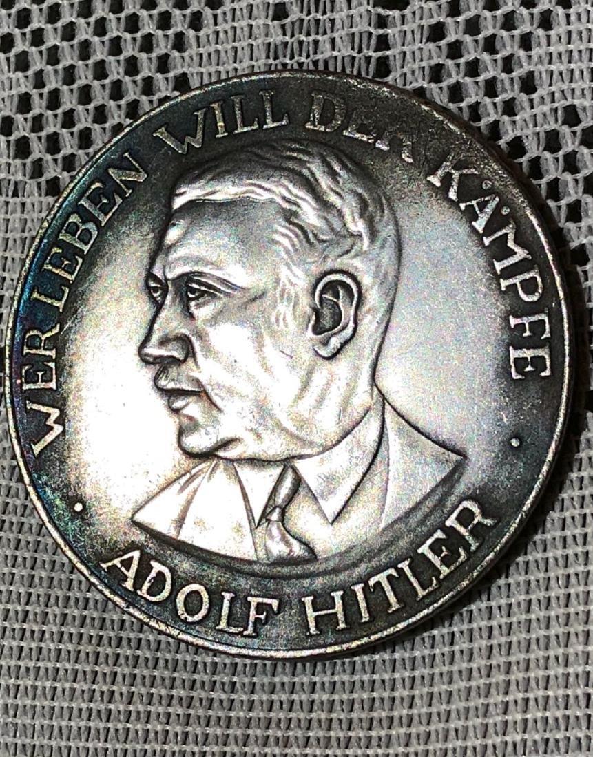 GERMAN WW2 ADOLF HITLER SILVER COIN