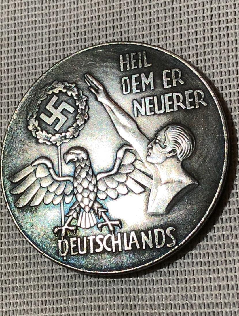 GERMAN WW2 ADOLF HITLER SILVER COIN - 2