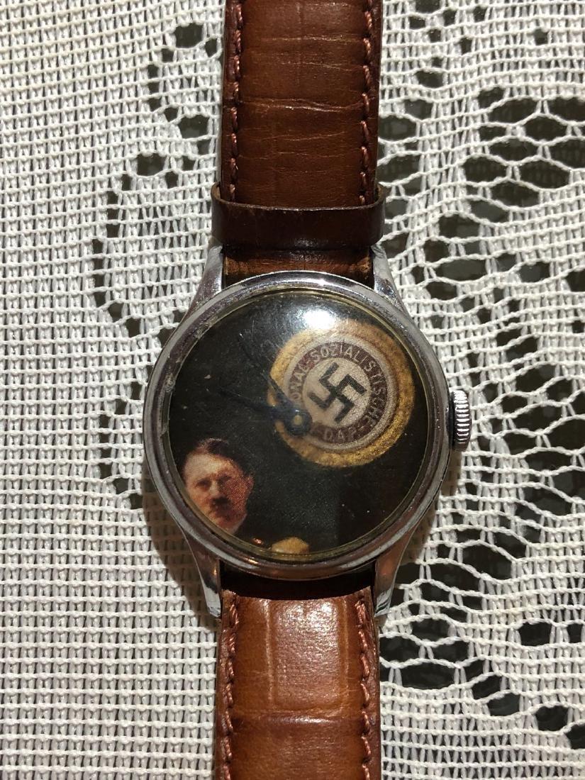 RARE WW2 GERMAN ADOLF HITLER WATCH, HAND-WINDING - 2