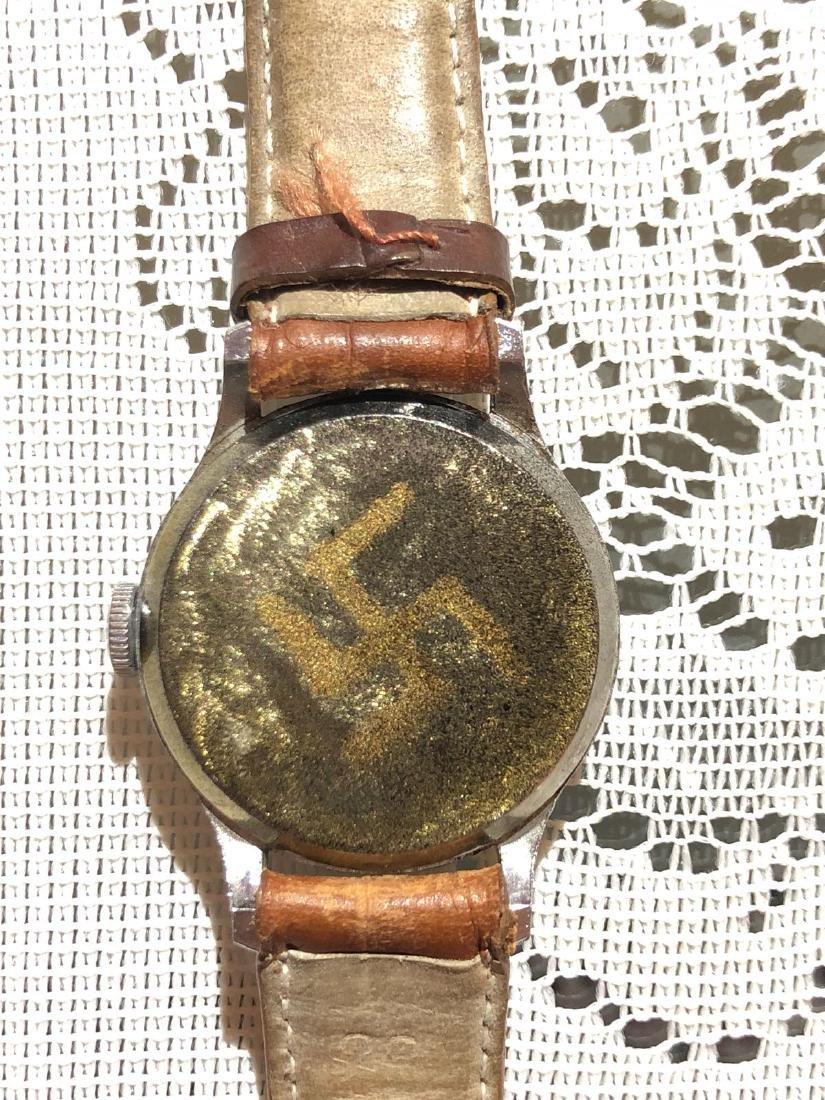 RARE WW2 GERMAN ADOLF HITLER WATCH, HAND-WINDING - 3