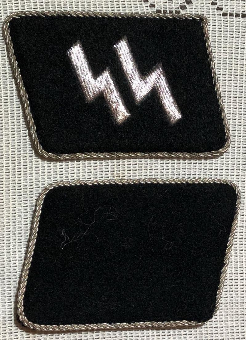 GERMAN WW2 SS OFFICER COLLAR TABS