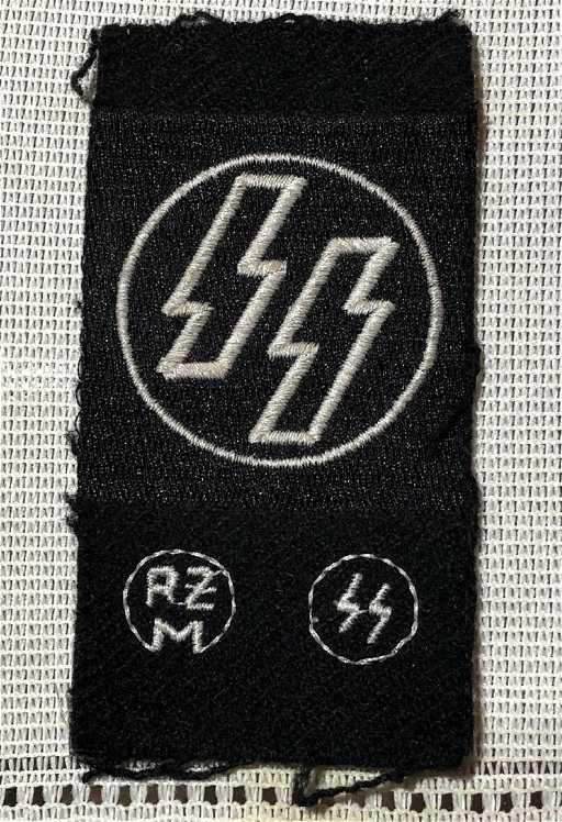 Very Rare Ww2 German Nazi Waffen Ss Patch