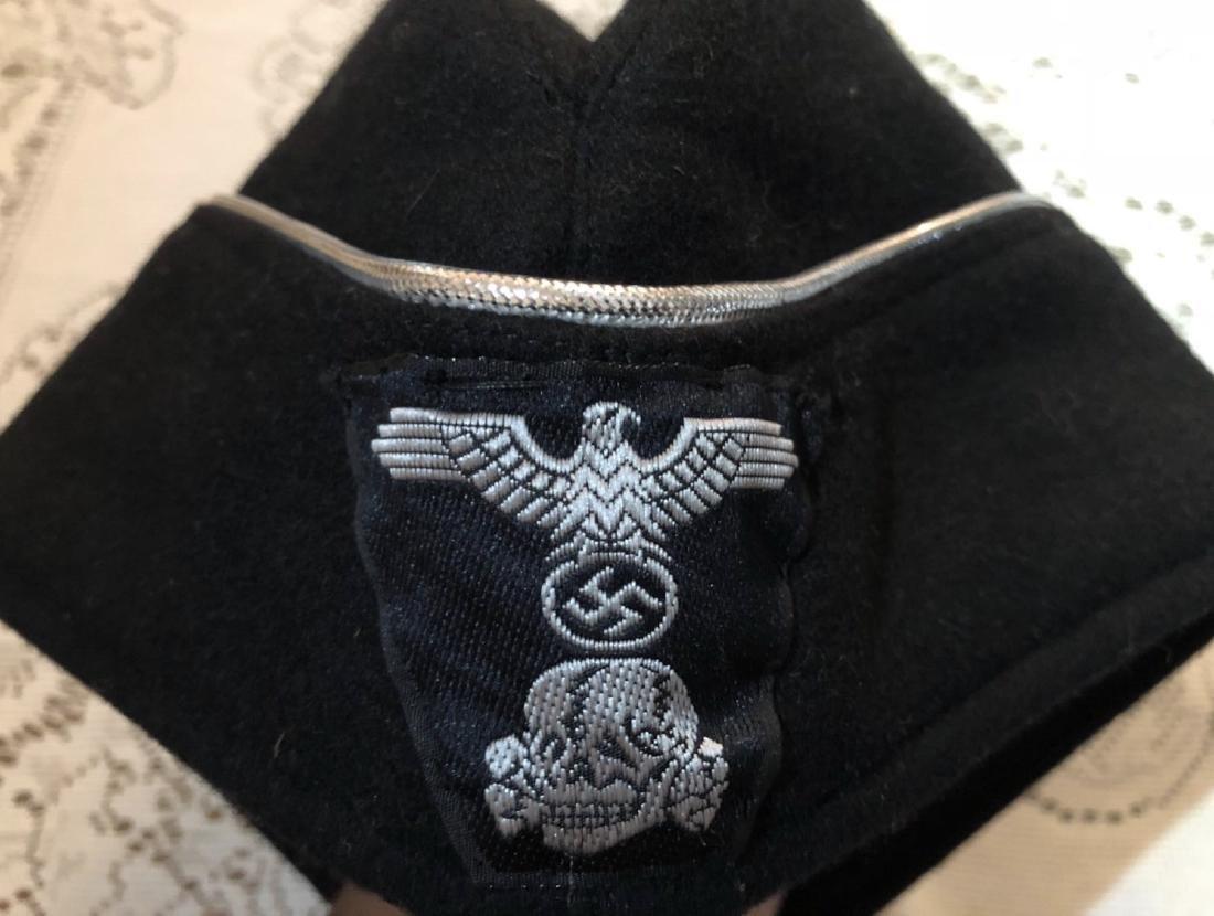 WW2 GERMAN NAZI SS OFFICER PANZER CAP - 4