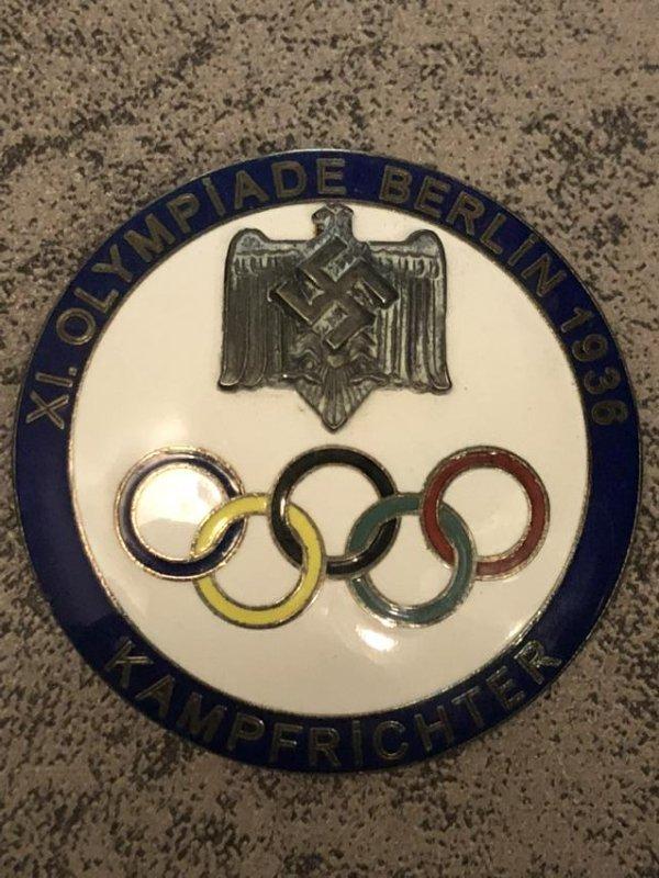 1936 BERLIN OLYMPICS KAMPFRICHTER (JUDGE) BLUE PIN