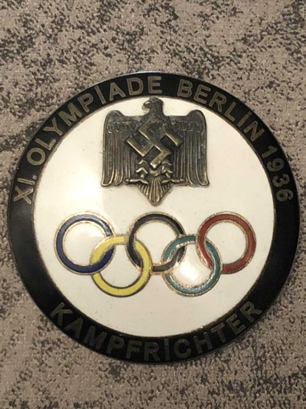 1936 BERLIN OLYMPICS KAMPFRICHTER (JUDGE) BLACK PIN