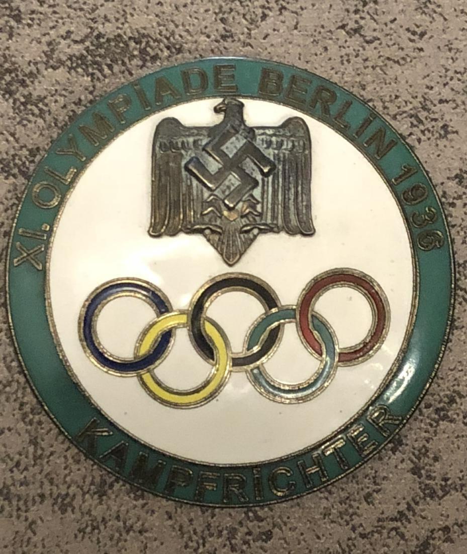 1936 BERLIN OLYMPICS KAMPFRICHTER (JUDGE) GREEN PIN