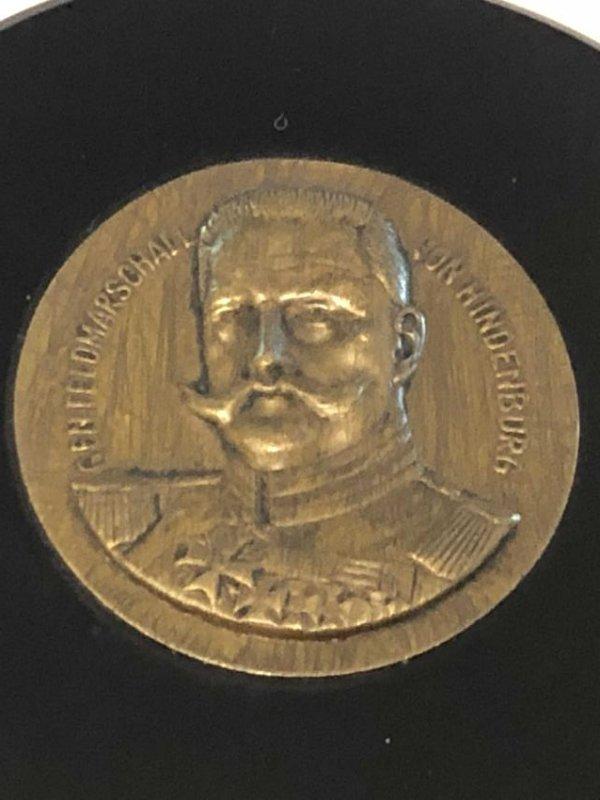 WW1 - WW2 PAUL VON HINDENBURG PAPER WEIGHT/PLAQUE - 2
